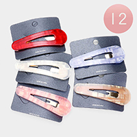 12PCS - Celluloid Acetate Triangle Hair Barrettes
