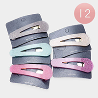 12PCS - Shimmery Triangle Hair Barrettes