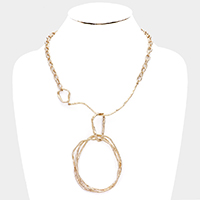 Irregular Circle Metal Chain Necklace