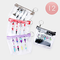 12PCS - Runway Clear Transparent  Pouch Bags