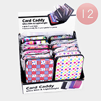 12PCS - Pattern Ultra Slim Lightweight Card Holders