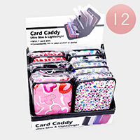 12PCS - Heart Pattern Ultra Slim Lightweight Card Holders