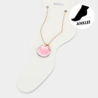 Watercolor Wood Shell Anklet