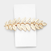 Metal Leaf Barrette