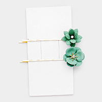 2PCS - Flower Bobby Pins