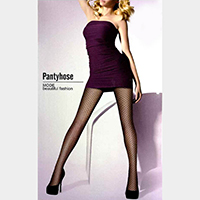 Jacquard Fishnet Pattern Pantyhose Tights