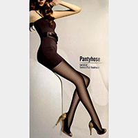 Jacquard Zigzag Pattern Pantyhose Tights