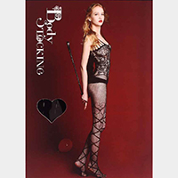 f3cde59316d Fishnet Bodystocking Login for Price · Jacquard Bow Detail Fishnet  Bodystocking