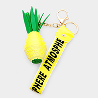 Three-dimensional Pineapple Key Chain
