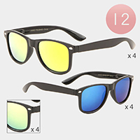 12PCS -Kids Gradient Lens Wayfarer Sunglasses