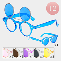 12PCS - Polycarbonate Lens Flip Kid's Sunglasses