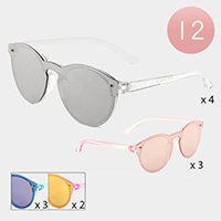 12PCS - Mirror Lens Kids Sunglasses