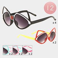 12PCS - Cute Cat Kids Sunglasses