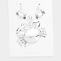 Metal Crab Magnetic Pendant Set