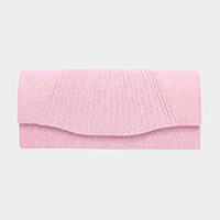 Pleated Evening Clutch Bag