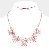 Dangling Crystal Starfish Cluster Necklace