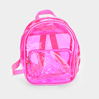 Neon Clear Mini Backpack Bag
