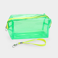 Neon Clear Pouch Bag