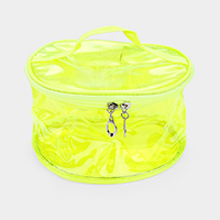 Neon Clear Zipper Pouch Bag