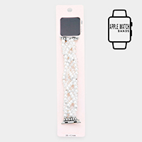 Apple Watch Pre-Layered Bead Pearl Stretch Strap Band