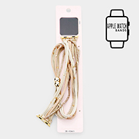 Apple Watch Faux Suede Leather Wrap Bead Magnetic Strap Band