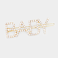 'BABY' Crystal Pave Barrette