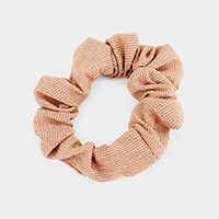 Textured Waffle Scrunchies Hair Band