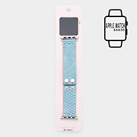 Apple Watch Faux Suede Leather Strap Band