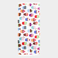 Cupcake Print Rectangle Beach Towel