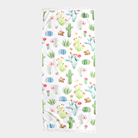 Cactus Print Rectangle Beach Towel