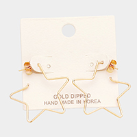 Gold Dipped Open Star Earring
