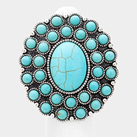 9063534bb36359 Rhinestone Trimmed Serape Cactus Tassel Keychain Login for Price · Natural  Stone Enamel Tribal Adjustable Ring