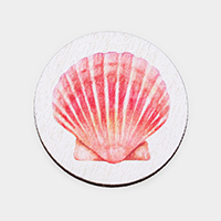 Watercolor Shell Print Self Adhesive Charm for Phone Holder