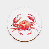 Watercolor Crab Print Self Adhesive Charm for Phone Holder