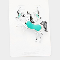 Sea Glass Horse Metal Magnetic Pendant Set