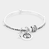 'John 3:16' Cross Charm Stretch Bracelet
