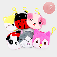 12PCS - Cute Animal Coin Purses Key Chains