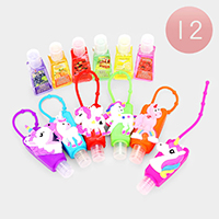 Hand Sanitizer With Colorful Silicone Unicorn Holders