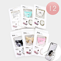 12PCS - Cat Kickstand Stent Cell Phone Ring Holders