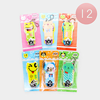 12PCS - Cute Animal Character Nail Clippers / Nail Scissors