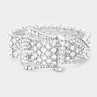 Crystal Cluster Belt Stretch Evening Bracelet