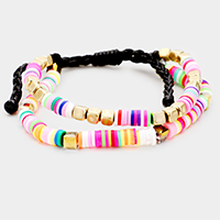 Colorful Bead Layered Adjustable Bracelet