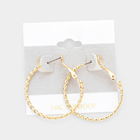 Twist Open Circle Hoop Earrings