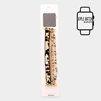 Leopard Pre-Layered Bead Apple Watch Stretch Strap Band