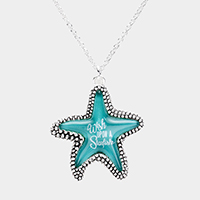 'Wish upon a Starfish' Starfish Pendant Necklace