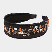 Flowers Embroidery Headband