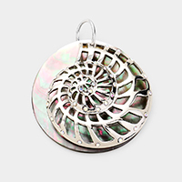 Cut out Shell Metal Pendant