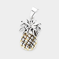 Embossed Pineapple Metal Pendant