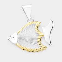 Detailed Wire Fish Metal Pendant