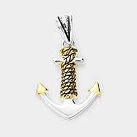 Detailed Anchor Metal Pendant